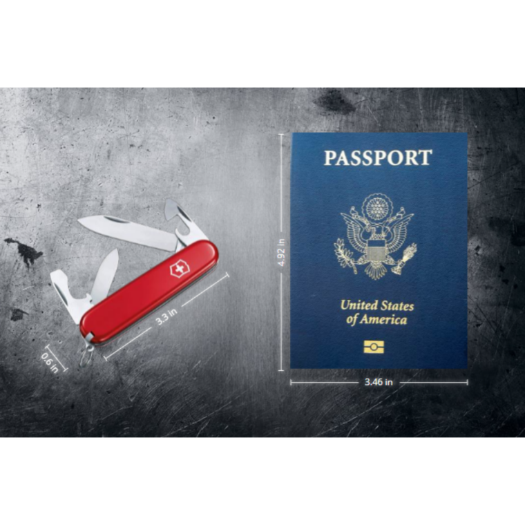 Swiss Army Knife Compared to Passport